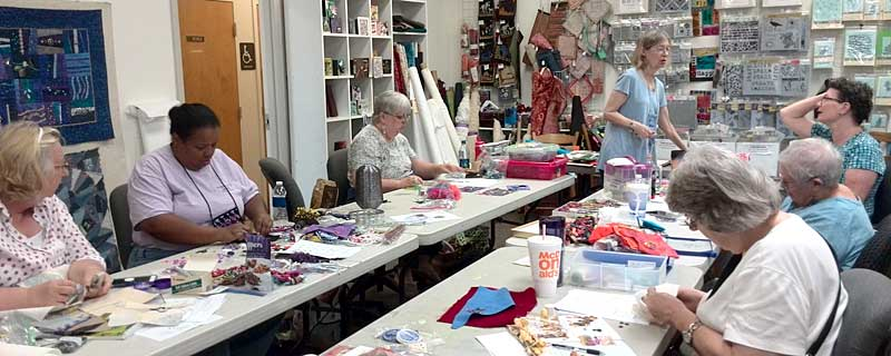 Diane Herbort teaching Baubles, Dangles & Beads  at Artistic Artifacts in Alexandria, VA