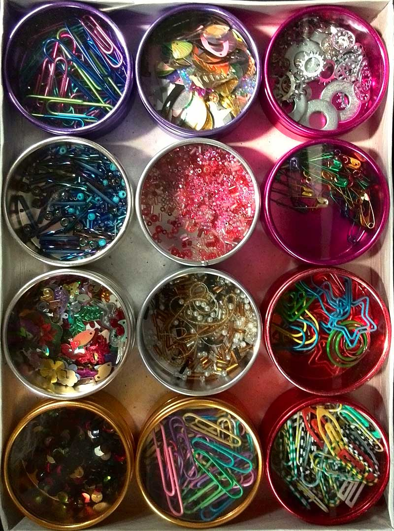 Diane Herbort supplies for her Baubles, Dangles & Beads class