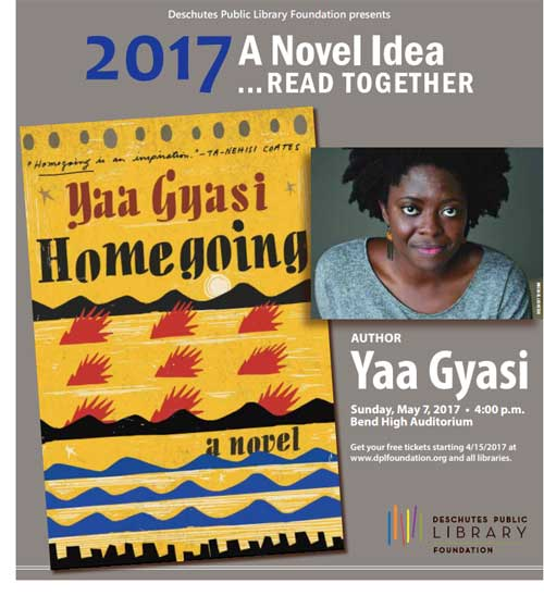 A Novel Idea 2017 PDF program cover by the Deschutes Public Library Foundation