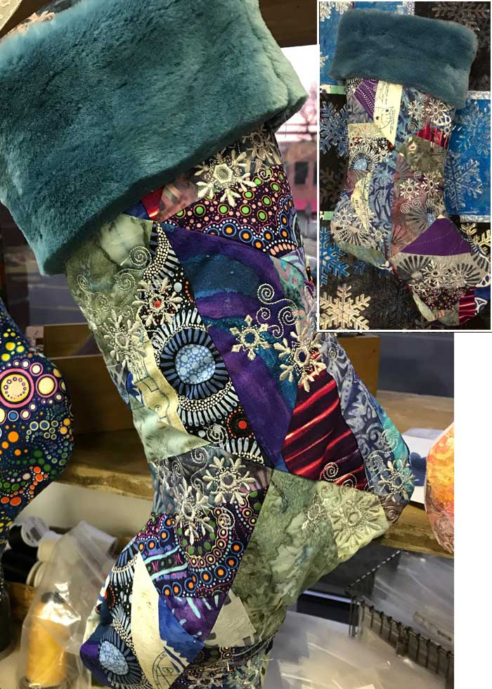 Denise Reuter's completed holiday stocking