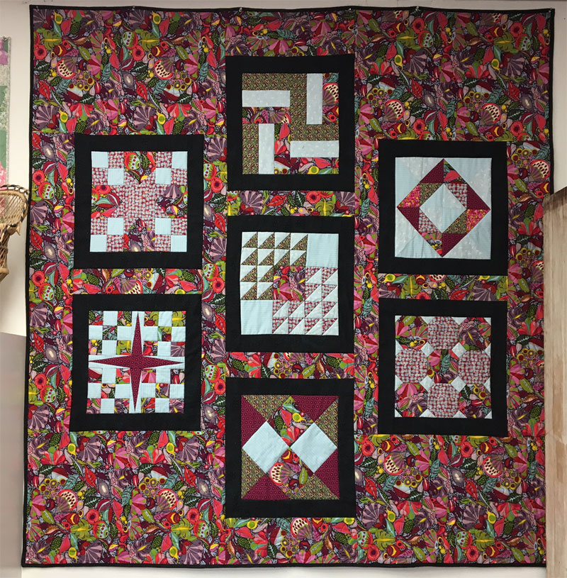 Sampler quilt by Dudley Shugart of Artistic Artifacts