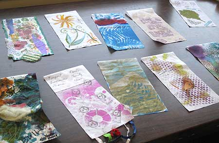Some of the prayer flags created by JAMs members