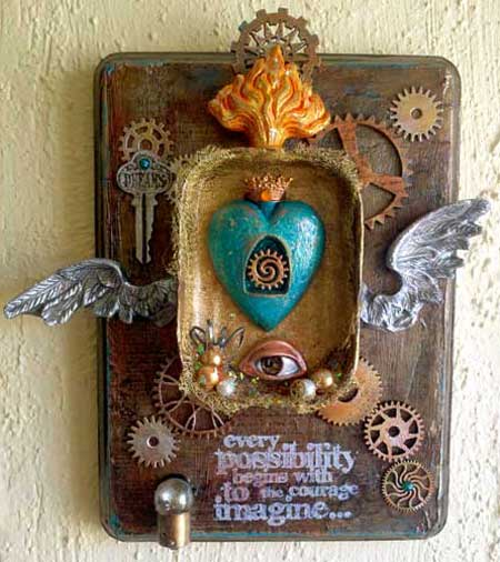 from A View to My Heart, an Artistic Artifacts class led by Judy Gula using the beautiful Relics and Artifacts line of craft blanks by Sandra Evertson