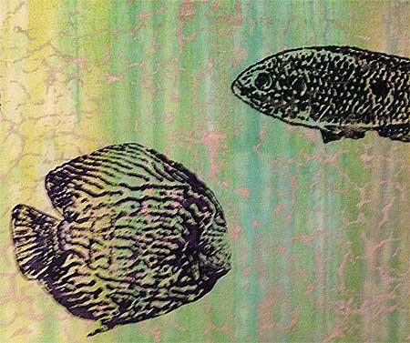 PG Fiber2Art fish screens on Batik Tambal Exclusive Fabric