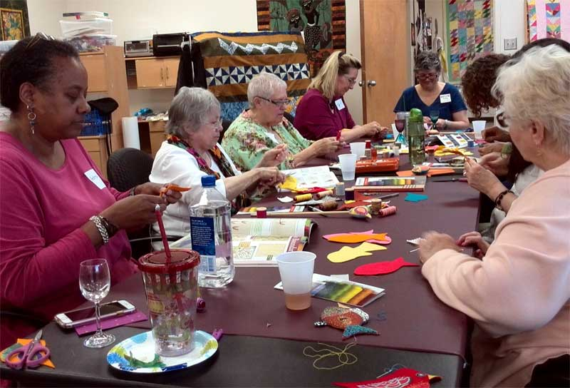 Creating WonderFil Fish or Fowl during a fun Create Along at Artistic Artifacts