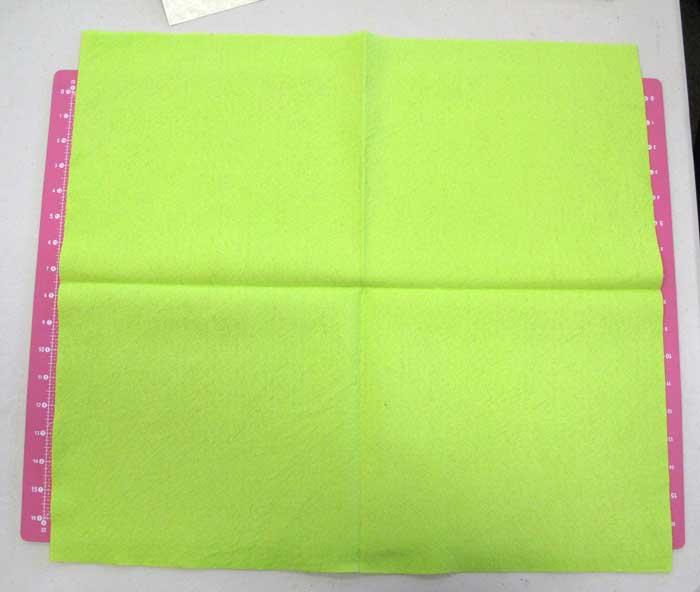 Folding felt for cutting lines