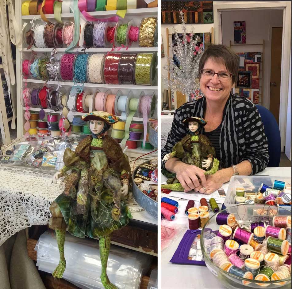 The Frog Princess enjoys visiting Artistic Artifacts with Liz Kettle