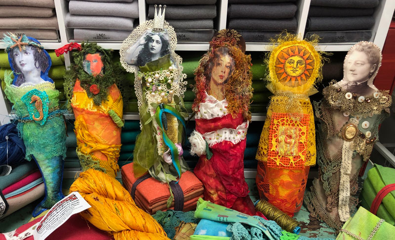 TAP Fragment Dolls created by Artistic Artifacts that are being raffled off to benefit India