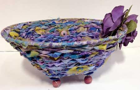 Fabric Woven Wire Basket by Judy Gula