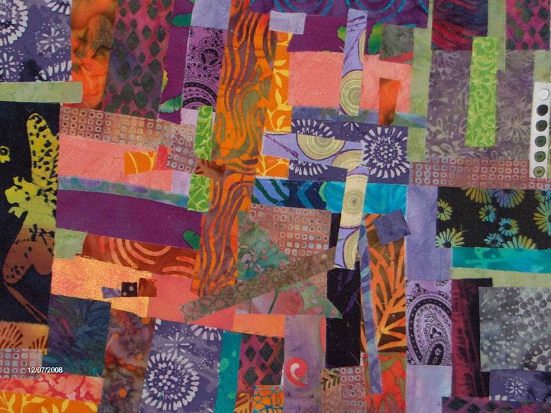 Fused fabric collage by Judy Gula