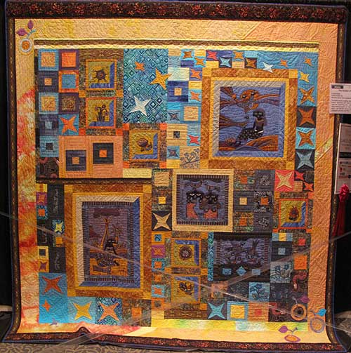 The Garden of Eden, quilt by Louise Holder