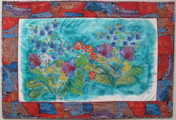 Paintstik Rubbing Art Quilt by Judy Gula