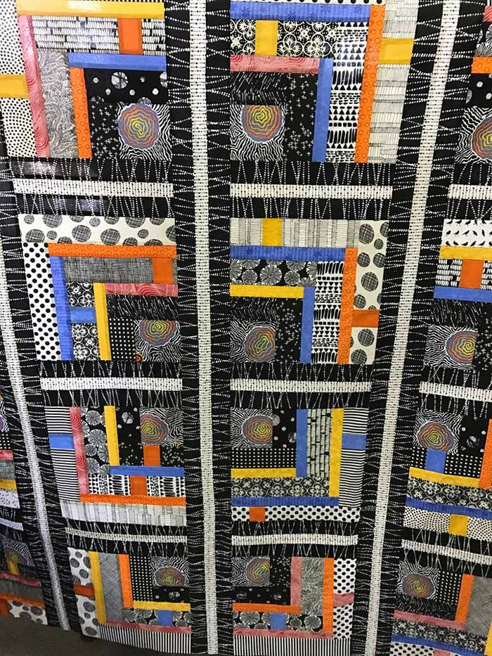 Quilt top by Artistic Artifacts customer Laura Geiser