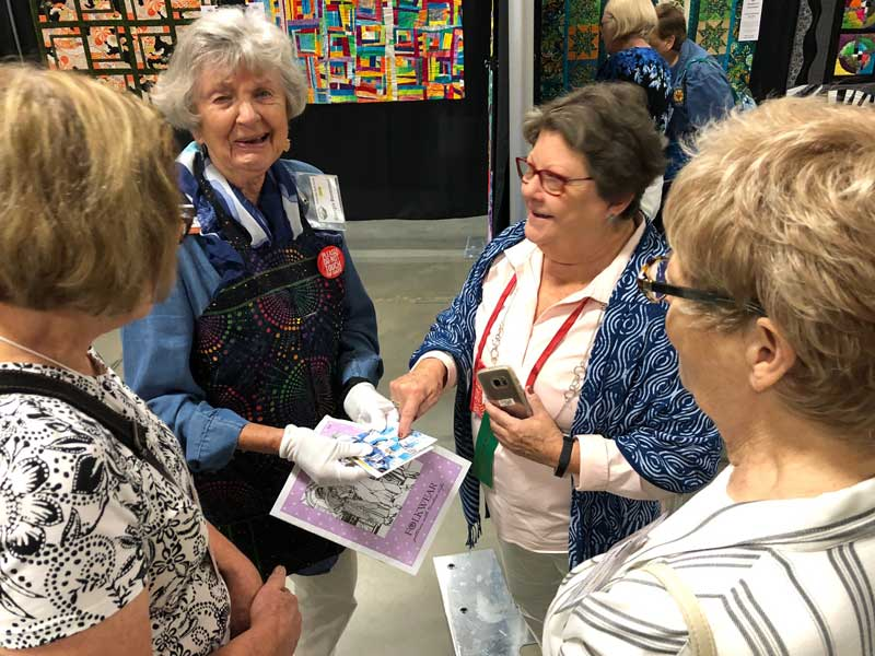 Quilting author and television host Georgia Bonesteel with Barb Boatman