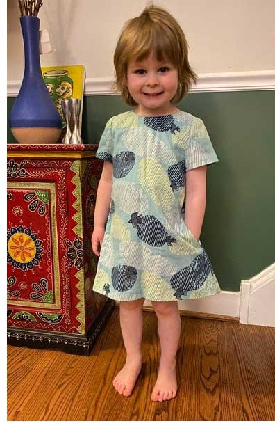 Gigi dress by Olive Ann Designs sewn by Artistic Artifacts staffer Nancy McCarthy for her granddaughter