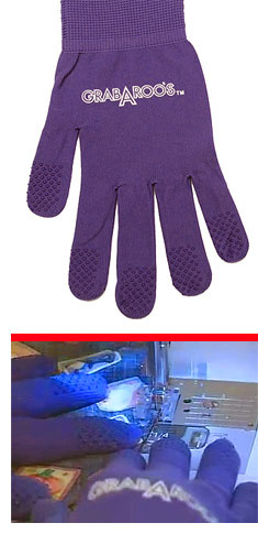 GRABAROOS gloves for free motion quilting