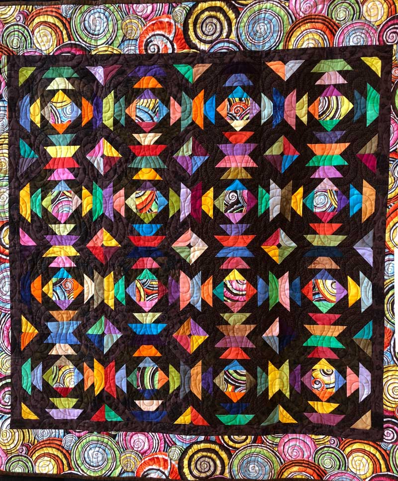 """Even with Brown,"" quilt by Gyleen Fitzgerald"
