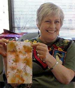 Sue Haftel and her prayer flag