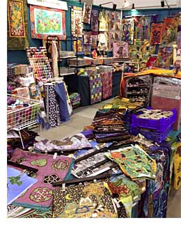 The Artistic Artifacts/Batik Tambal booth at Mid-Atlantic Quilt Festival
