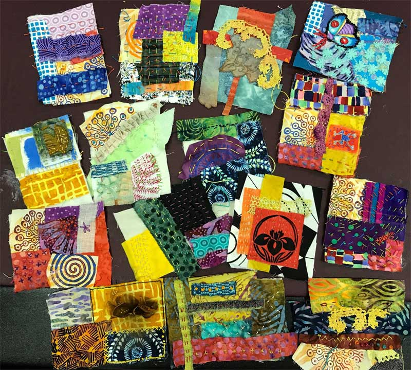 """Stitch Meditations created by students in July's """"How Do I..."""" session"""