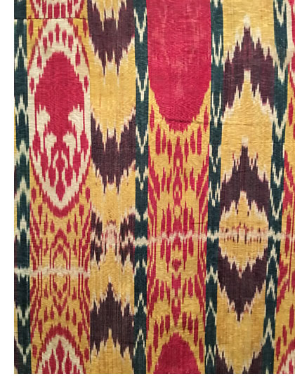 "Ikat from the ""To Dye For: Ikats from Central Asia"" exhibit at the he Freer