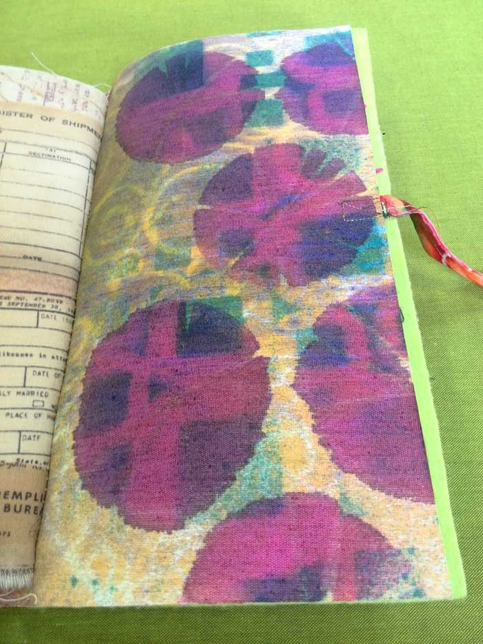 Spray ink through stencils on Roc-lon Multi-Purpose Cloth
