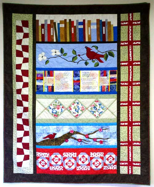 Jana Franklin's prize-winning Row by Row Experience quilt