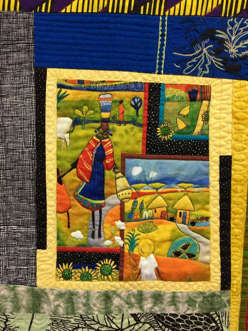 Janet Green's favorite block from her Inside Stories quilt