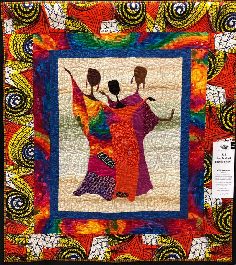 """Jazz Festival Backup Singers"" quilt by O.V. Brantley"