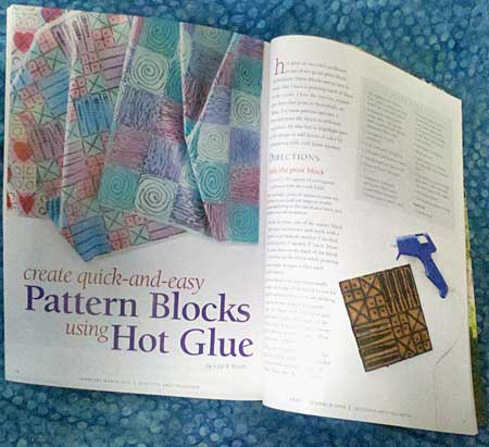 Julie B. Booth is featured in the February/March 2016 issue of Quilting Arts
