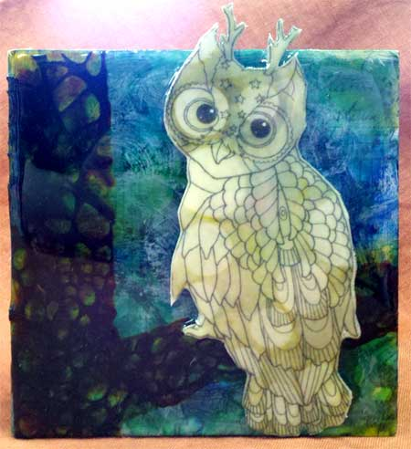 ICE Resin Owl by Jen Bell from the JAMs Box Challenge