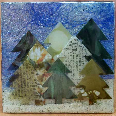 ICE Resin Pine Trees in Winter by Jen Bell from the JAMs Box Challenge