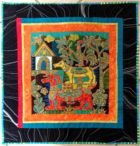 Mahyar Batik Panel quilt by Judy Gula