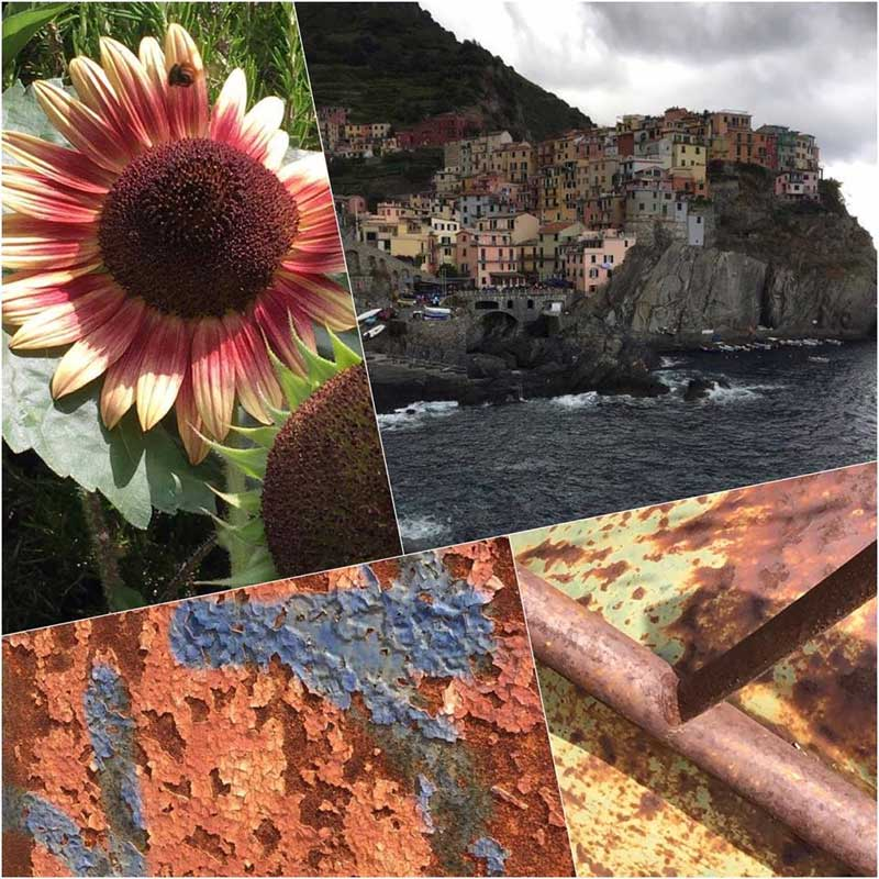 A sampling of photos taken by Artistic Artifacts owner Judy Gula while she is in Italy on vacation