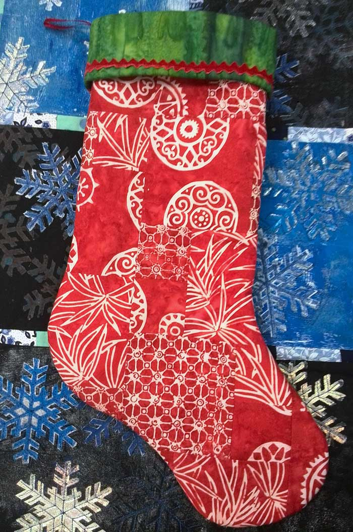 Julie Middleton's completed holiday stocking