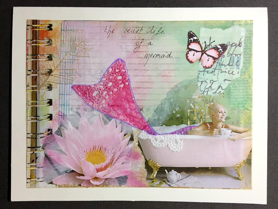 Collaged card by Jocelyn Corderot