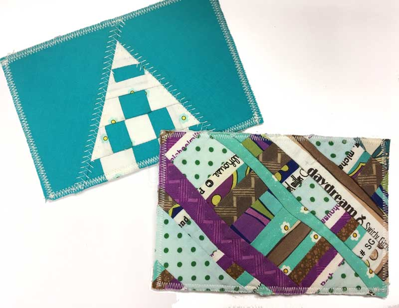 Fabric postcards by Joyce for Judy Gula of Artistic Artifacts
