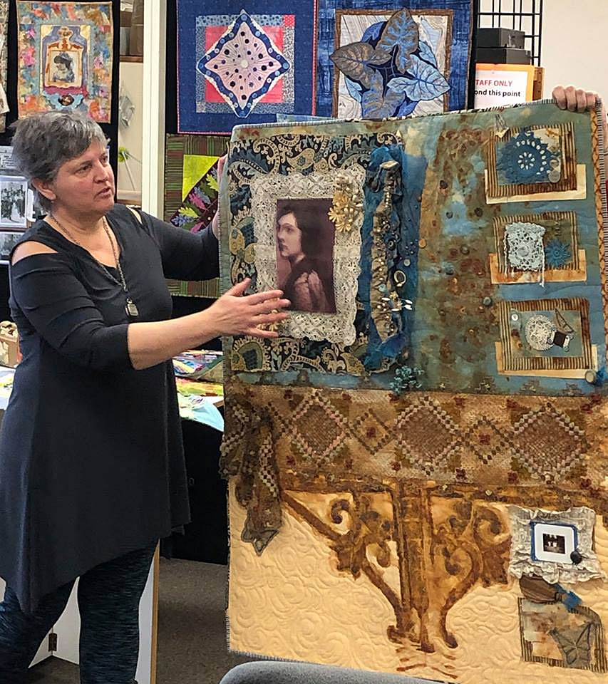 Artistic Artifacts owner Judy Gula with her 2019 Sacred Threads submission