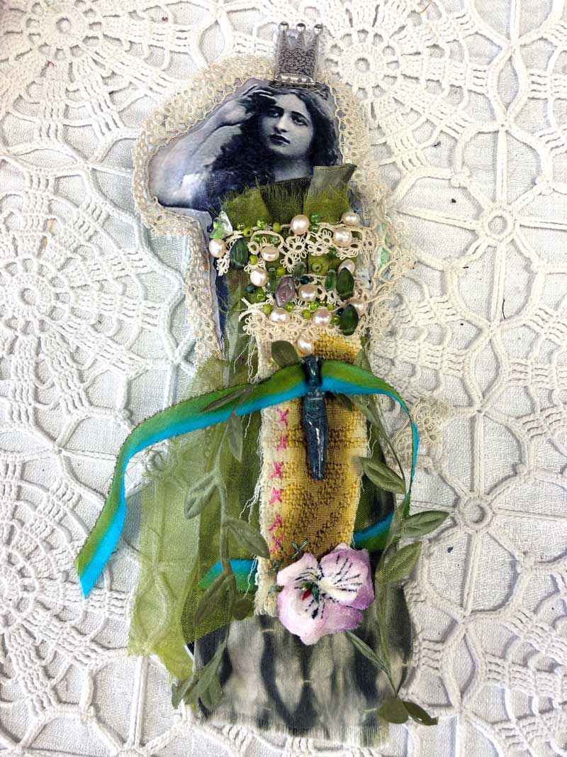Judy Gula Fragment Doll, a project from The Ultimate Guide to Transfer Artist Paper by Lesley Riley