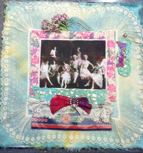 With a Little Help From My Friends, art quilt by Judy Gula