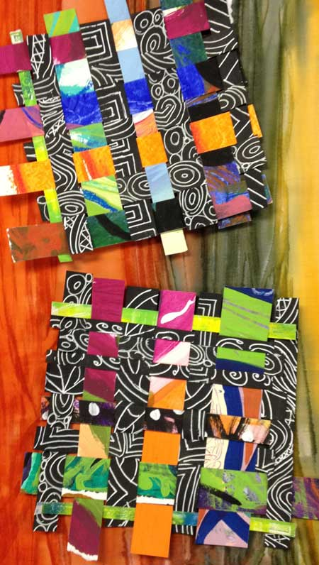 Woven paper by Judy Gula of Artistic Artifacts