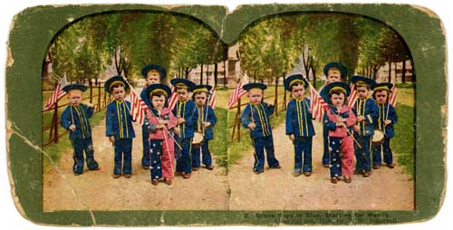 Click to download high resolution vintage image, Boys in Blue