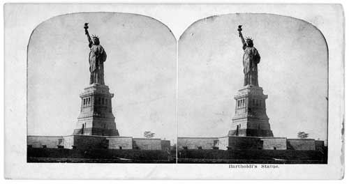 Click to download high resolution vintage image, Statue of Liberty