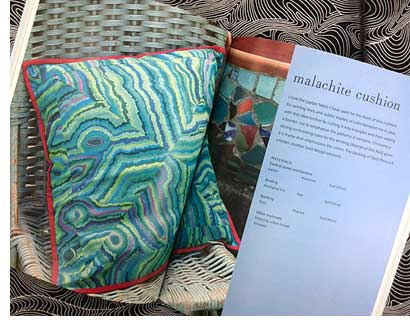 The Malachite pillow from Kaffe Fassestt's brilliant little patchwork cushions and pillows