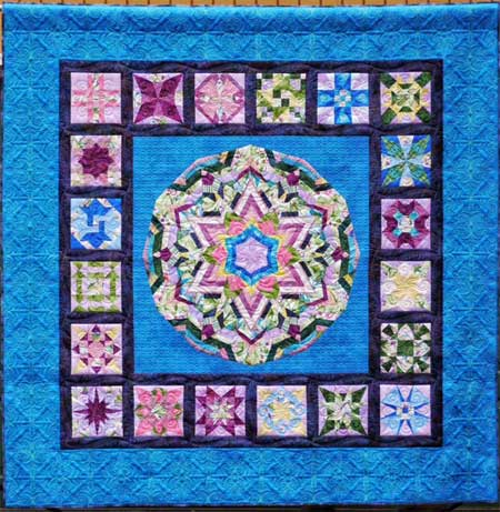 Kaleidescope of Colors, first prize, group quilts, 2015 Quilt Odyssey