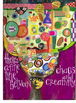 Chaos and Creativity Art by Kass Hall