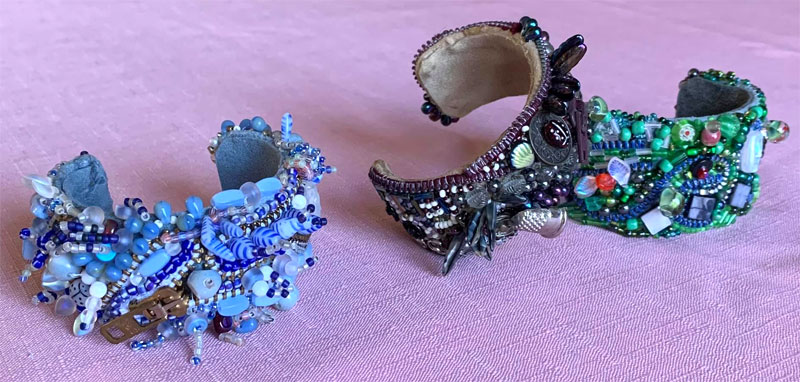 Beaded cuffs by Kathy Edwards