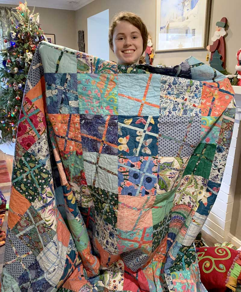Emma quilt by Judy Gula, a gift for her niece Layla