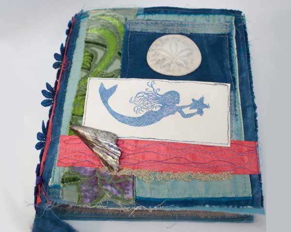 Mermaid journal by Liz Kettle of Textile Evolution