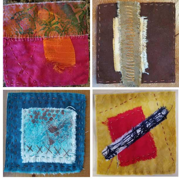 Recently completed Stitch Meditations by Liz Kettle of Textile Evolution